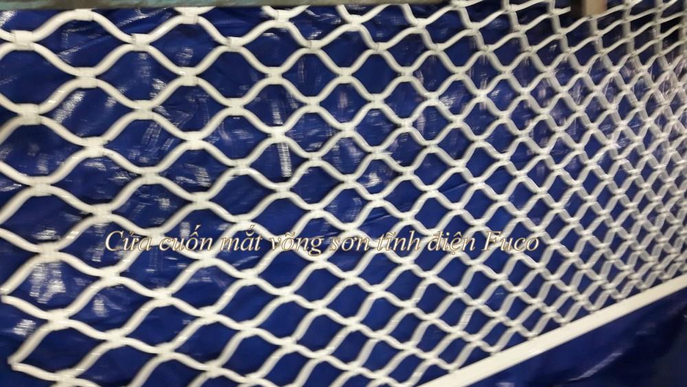 Cửa cuốn lưới mắc võng sơn tĩnh điện, cửa cuốn lưới mắt cáo