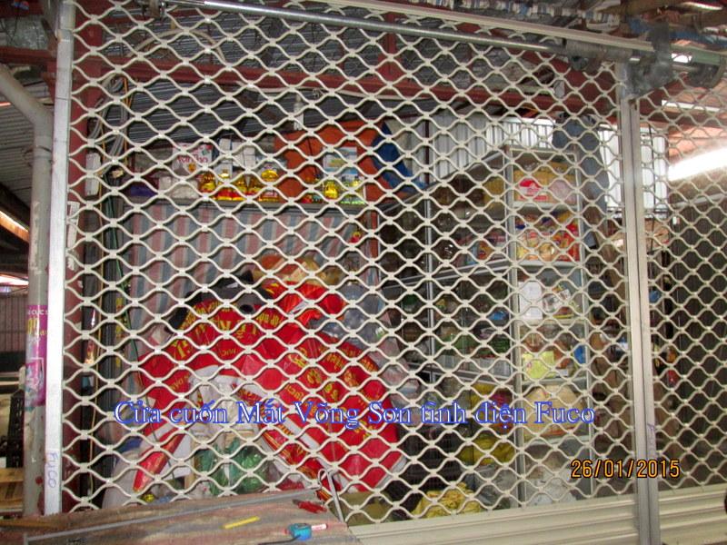 Cửa cuốn Mắt lưới sơn tĩnh điện