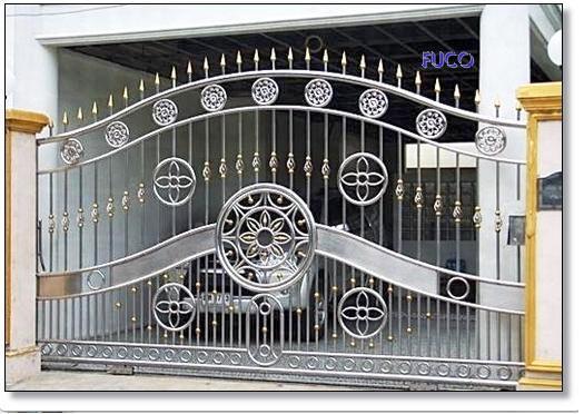 Cổng inox biệt thự 06