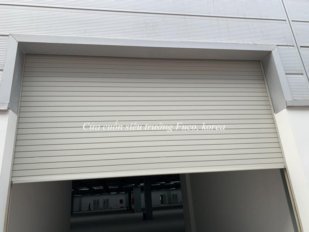 Cửa cuốn đài loan, cửa cuốn nhà xưởng, cửa cuốn thép mạ màu dầy 0,5dem đến 1ly, cửa cuốn cho nhà xưởng đài loan